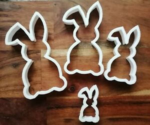 Rabbit Bunny Cookie Cutter Biscuit Dough Face Pastry Easter 4 Size AL126-29