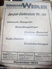 14392 Wendler Bernhard KATALOG elek Hausgeräte Beleuchtungskörper Radiomaterial