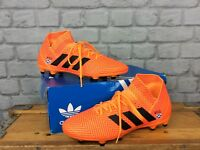 ADIDAS MENS UK 7 EU 40 2/3 NEMEZIZ 18.3 FG ORANGE FOOTBALL BOOTS PERSONALISED