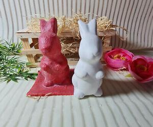 Handgemachte Latexgießform Gießform Betongießform für Beton Hase Ostern (173)
