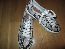next snake print studded lace up flat pumps size 5 eur 38 brand new with tags