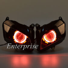 Projector Headlight Assembly HID Red Angel Demon Eyes for Honda CBR 600RR 07-12