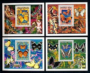 [93807] Burkina Faso 1996 Insects Butterflies Papillons 4 Single Sheets MNH