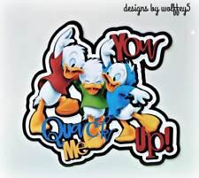Disney Duck 3D art premade paper piecing scrapbook diecut piece page album card