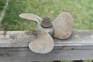 "Vintage MICHIGAN Brass Boat Propeller 3 Blade about 10"" Diameter SMC 642/capnut?"