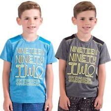 Camisas y camisetas de niño de 2 a 16 años de color principal azul de poliéster