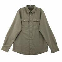Mountain Hardwear Men's Outdoors Button-Down Shirt Medium Tan Nylon