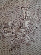 Par M Style Antique Français Toile de Jouy rideau tissu les enfants angelots