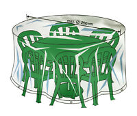 Green Table Chairs Patio Set Cover Circular Garden Weatherproof Furniture Round