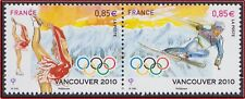 2010 FRANCE N°4436/4437** Jeux olympiques d'hiver Vancouver, Olympic Games MNH