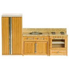 Kitchen Appliance Dollhouse Miniature Set, Oak