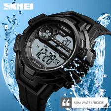 SKMEI 1383 Reloj de pulsera LED Reloj deportivo digital Para Hombre Impermeable