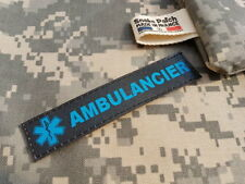 "SNAKE PATCH - Bande Patronymique "" AMBULANCIER "" STAR OF LIFE emt MEDIC patro"