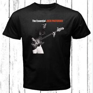 Jaco Pastorius The Essential Logo Men's Black T-Shirt Size S-3XL