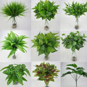 Plante Artificielle Faux Feuillage De Feuilles Bush Maison Jardin Fleur Decor