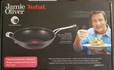 NEW TEFAL JAMIE OLIVER HARD ANODISED INDUCTION WOK PAN 30 CM COOKWARE