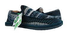 Sanuk Donny Chill Indigo Blue Nordic Faux Fur Sidewalk Surfer Shoes Sz. 8 *NEW*