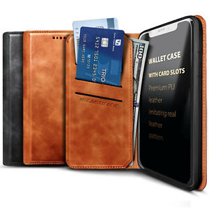For Samsung Galaxy A11 Phone Case, Premium Leather, Magnetic Flip Card Holder