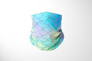 Mermaid Tail  - Cotton Snood/neck gaiter mask face cover - UK Made