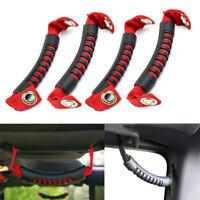 fit Jeep Wrangler JK 4pcs Red Rear Side Seat Grab Strap Handles Headrest handles