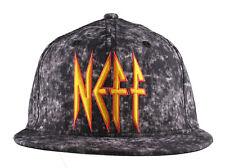 Neff Headwear Black Leopard Neff Rock Logo Snapback Baseball Hat Cap F13018 NWT