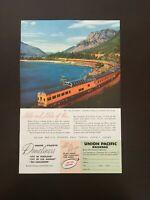 Vintage 1956 Railroad Ad UNION PACIFIC Domelines