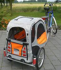 Petego Comfort Wagon M - gefederter Aluminium Fahrradanhänger für Hunde
