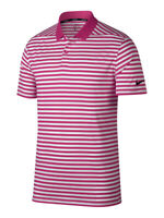 Nike Golf Mens Dri-Fit Victory Striped Polo Shirt Pink/White 891853 616 New