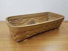 Longaberger Wb Warm Brown Bread Basket Set with Protector New Retired