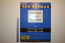 J81 Van Norman Milling Machine Attachments Arbors Accessories Brochure