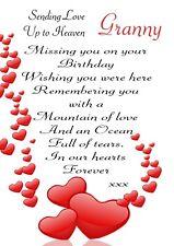 Female Relation Graveside Card Birthday Mum Daughter Memorial Keepsake F21
