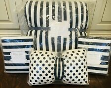Pottery barn Teen Emily & Meritt Pirate Stripe Comforter Full Queen Quilt Shams