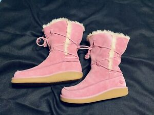 Womens Fur Boots Earth Shoe Size 7 Pink