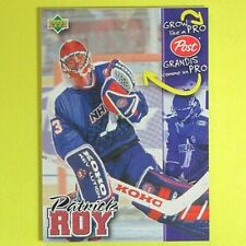 """PATRICK ROY  1996-97   POST CEREAL 'GROW LIKE A PRO""""      Montreal Canadiens"""