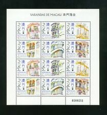 MACAO MACAU 1997  Balconies  Sheetlet of 2 sets of 6 SG 1000-1005  MNH (A33)