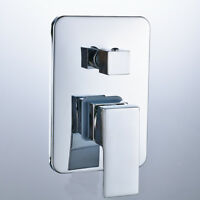 3 Way Wall-Mount Shower Faucet Control Valve Mixer Tap Single Handle W/ Diverter