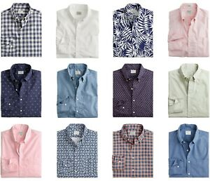 J.Crew Slim Fit Untucked Shirt Mens Secret Wash Stretch Long Sleeves Button Down