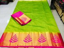 Traditional Designer Indian Silk Saree  Wedding Sari With Free One Side Earings