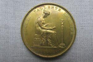 London Institution -- Gilt Bronze Medal -- Pass Ticket -- 30 Guinea Sub. -- 1121