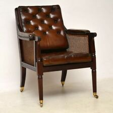 Leather Regency Antique Chairs