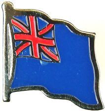 ROYAL NAVY BLUE ENSIGN  CLASSIC HAND MADE IN UK PLATED LAPEL PIN BADGE