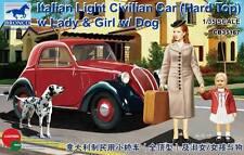 "FIAT 500 ""TOPOLINO"" HARD-TOP + 3 FIGURINES - KIT BRONCO MODELS 1/35 n° 35167"