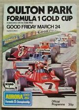 New listing OULTON PARK 24 Mar 1978 FORMULA 1 GOLD CUP Car Races Official Programme