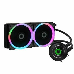 Game Max Iceberg 240mm CPU Water Cooler Liquid Cooling System Kit 2x LED PWM Fan