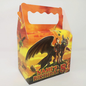 How to Train a Dragon Children's Kids Personalised Party Boxes Bags Favour FAST