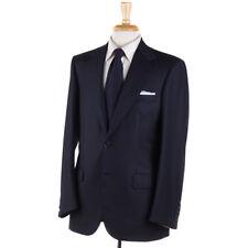 NWT $7000 BRIONI Midnight Navy-Sky Blue Stripe Super 170s Wool Suit 38 R