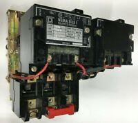 SQUARE D 8736SCo8 8736SC08 Reversing Starter Size 1 480V 3Phase 10HP 120V Coil