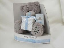 """ME TO YOU 5"""" BOXED HAPPY BIRTHDAY TEDDY BEAR HOLDING GIFT BOX PRESENT"""