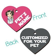 Disney Princess Leia 2-Sided Pet Id Dog & Cat Tag Personalized For Your Pet