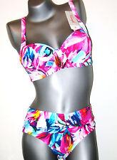 Triumph Bikini Set  -  40 C  -  Sunset Leaf W NEU bunt ( GB 36 / FR 46 / IT 46 )